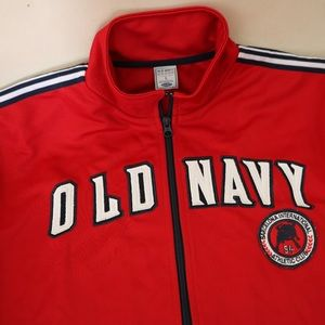 Old Navy Red Barcelona Athletic ZipUp Jacket Large